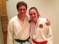 New green belt, congratulations from a happy sister!