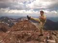 Mai Geri (front snap kick) above 10,000 feet